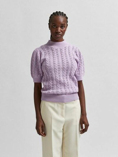 SELECTED FEMME Pull-over en violet pastel: Vue de face