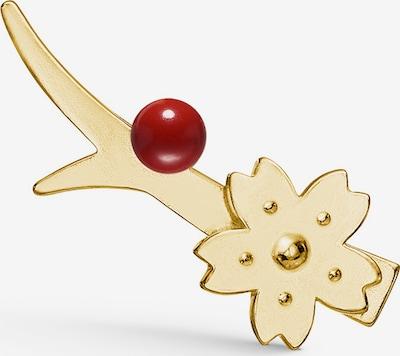 Polar Jewelry Oorbellen 'Sakura Earcrawler - RIGHT' in de kleur Goud / Rood, Productweergave