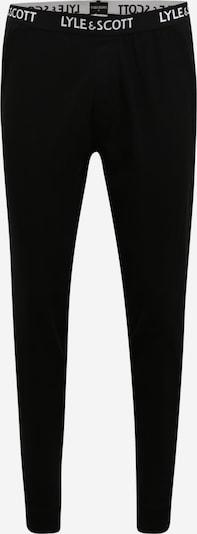 Lyle & Scott Pidžama hlače 'EZRA' u crna / bijela, Pregled proizvoda