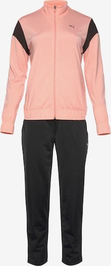 PUMA Trainingsanzug in apricot / schwarz, Produktansicht