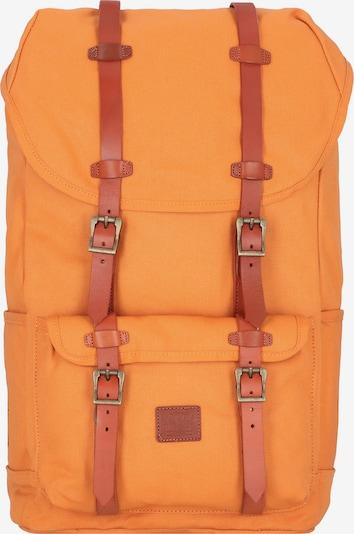 Herschel Rucksack 'Little America' in braun / orange, Produktansicht
