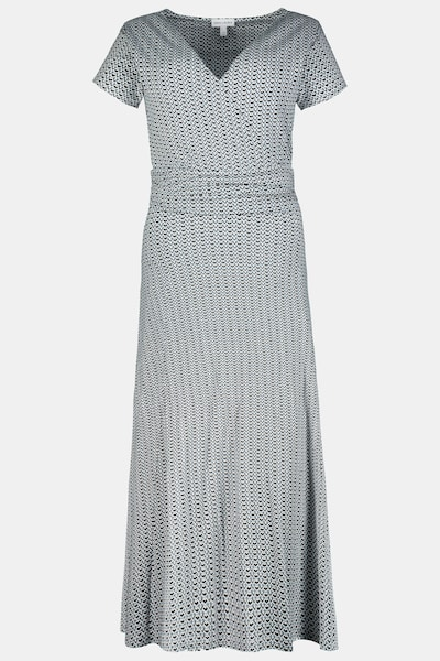 Gina Laura Gina Laura Damen Jerseykleid, Wickeloptik, gemustert, etwa knöchellang 723608 in grau, Produktansicht