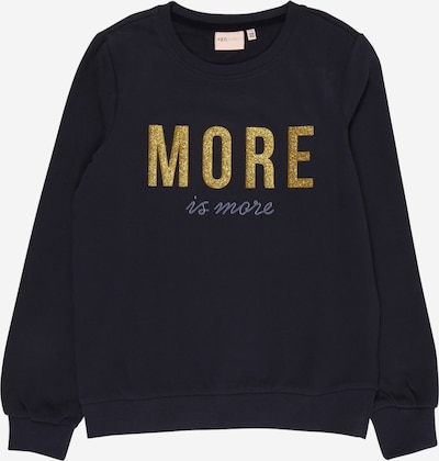 KIDS ONLY Sweatshirt 'Mina Life' in rauchblau / dunkelblau / gold, Produktansicht