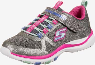 SKECHERS Sneaker 'Lite Jazzy Jumper' in blau / grau / pink, Produktansicht