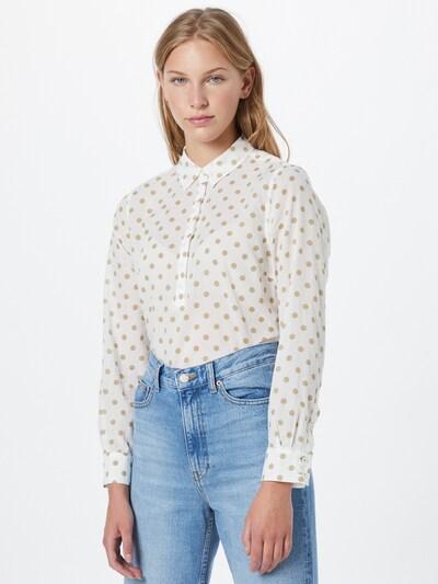 MORE & MORE Bluse in hellbeige / weiß, Modelansicht