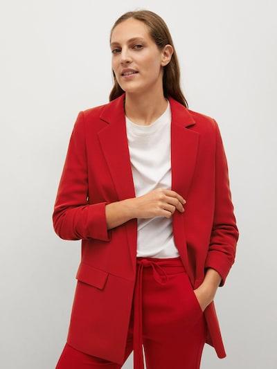 MANGO Blazer 'Eleonor' in rubinrot, Modelansicht