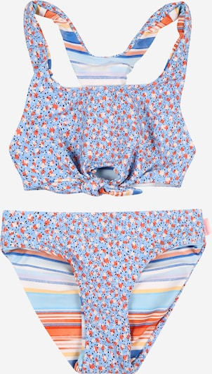 Seafolly Bikini in de kleur Beige / Smoky blue / Donkeroranje / Watermeloen rood / Wit, Productweergave