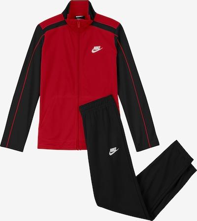 Nike Sportswear Jogginganzug in feuerrot / schwarz / weiß, Produktansicht