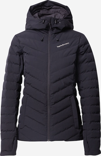 PEAK PERFORMANCE Zunanja jakna 'Frost' | črna / bela barva, Prikaz izdelka