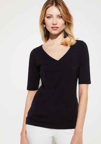 COMMA Shirt in schwarz: Frontalansicht