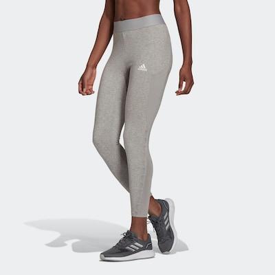 ADIDAS PERFORMANCE Sporthose in silbergrau / graumeliert / weiß, Modelansicht