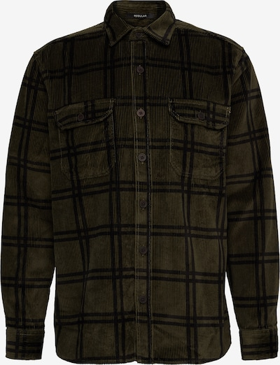 Mavi Hemd in dunkelgrün / schwarz, Produktansicht