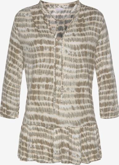 LASCANA T-shirt en beige / vert, Vue avec produit