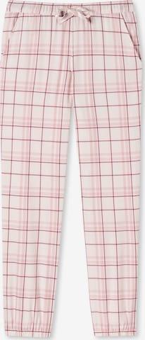 SCHIESSER Lange Webhose ' Mix & Relax ' in Pink
