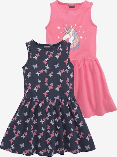 Kidsworld Kleid in dunkelblau / mischfarben / pink, Produktansicht