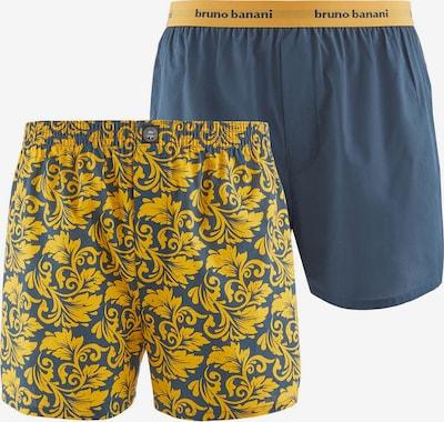 BRUNO BANANI Boxershorts in taubenblau / goldgelb, Produktansicht