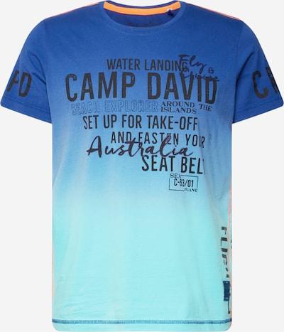 CAMP DAVID T-Shirt in blau / türkis / anthrazit, Produktansicht