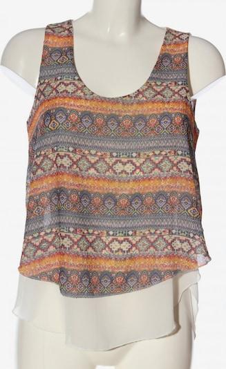 Styleboom ärmellose Bluse in M in khaki / hellorange / rot, Produktansicht