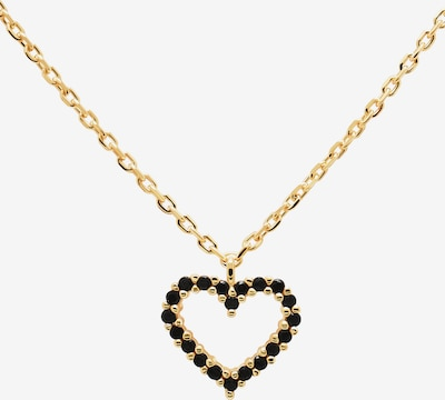P D PAOLA Verižica 'Black Heart' | zlata / črna barva, Prikaz izdelka