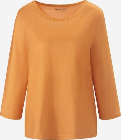 Green Cotton 3/4-Arm-Shirt in orange, Produktansicht
