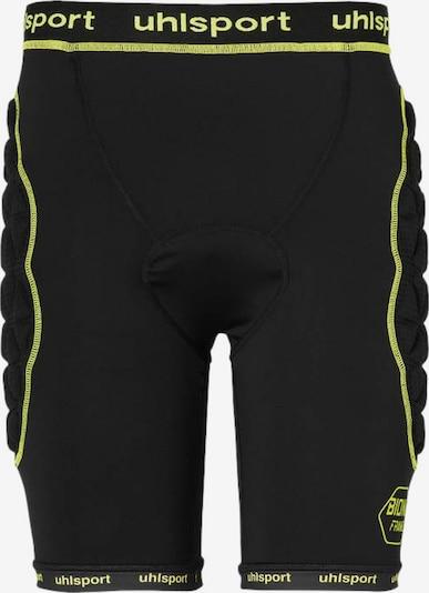 UHLSPORT Hose in gelb / schwarz: Frontalansicht