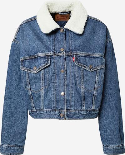 LEVI'S Between-Season Jacket 'CROPPED LOOSE SHERPA' in Blue denim, Item view