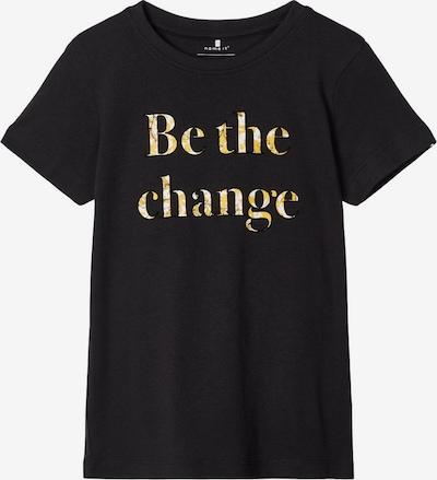 NAME IT T-Shirt in gold / schwarz, Produktansicht
