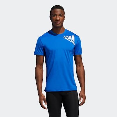 ADIDAS PERFORMANCE Functioneel shirt ' Alphaskin Sport Fitted T-Shirt 2.0 ' in de kleur Blauw / Wit: Vooraanzicht