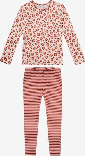 SANETTA Schlafanzug in beige / orange / rot, Produktansicht