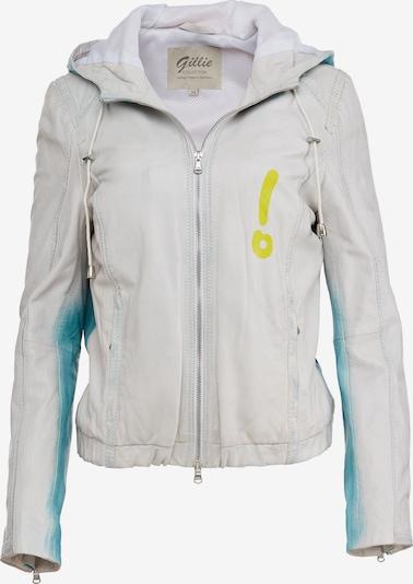 J.Gillie Lederjacke 'FREYA' in blau / weiß, Produktansicht