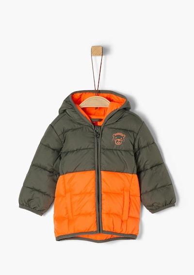 s.Oliver Steppjacke in khaki / orange, Produktansicht