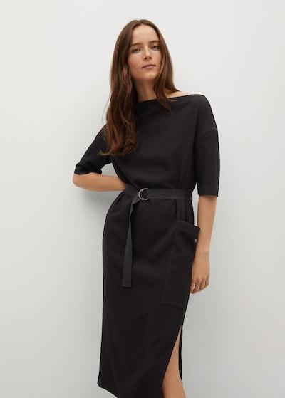 MANGO Kleid 'Sun' in schwarz, Modelansicht