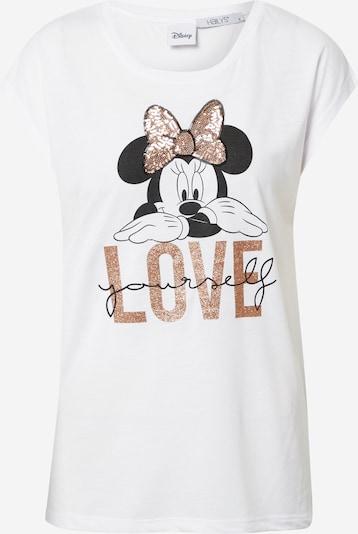 Hailys T- Shirt in gold / schwarz / weiß, Produktansicht