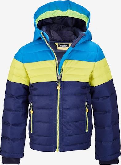 KILLTEC Outdoorjas in de kleur Blauw / Donkerblauw / Limoen, Productweergave