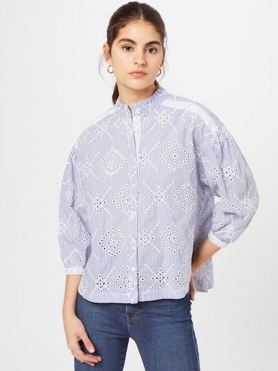 Twinset Блуза 'CAMICIA' в синьо / бяло, Преглед на модела