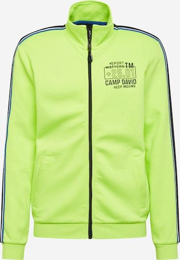 CAMP DAVID Collegetakki värissä sininen / neonkeltainen / musta / valkoinen, Tuotenäkymä