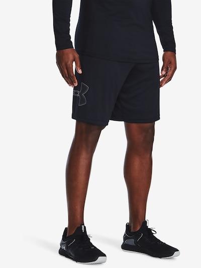 UNDER ARMOUR Shorts in schwarz / weiß: Frontalansicht