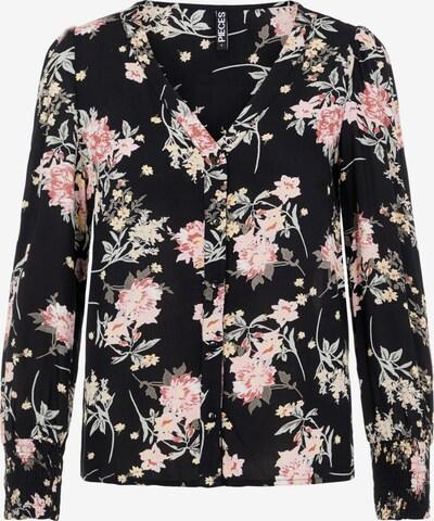 PIECES Blouse in de kleur Rosa / Zwart, Productweergave