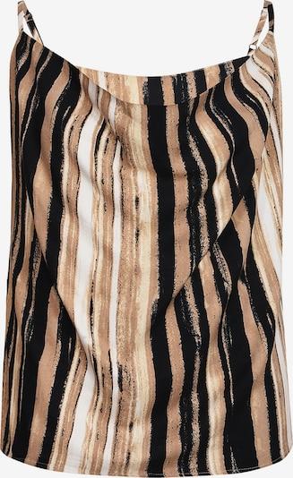 NÜ DENMARK Top 'Gemma' in braun / schwarz / weiß, Produktansicht