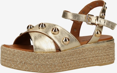 INUOVO Sandale in gold: Frontalansicht