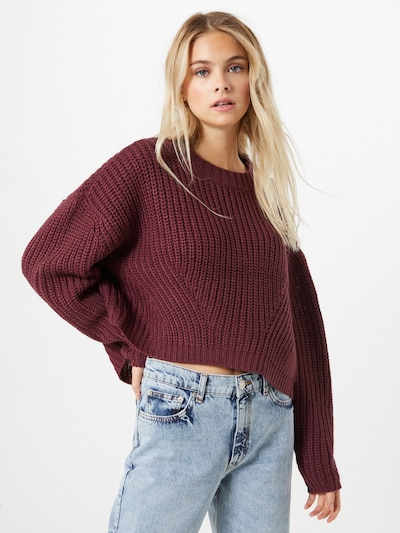 Urban Classics Pullover in weinrot: Frontalansicht