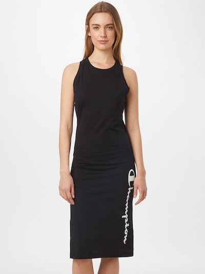 Champion Authentic Athletic Apparel Jurk in de kleur Zwart / Wit, Modelweergave