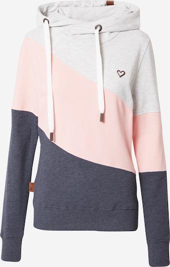 Bluză de molton 'Stacy' Alife and Kickin pe albastru marin / maro / roz pastel / alb murdar, Vizualizare produs