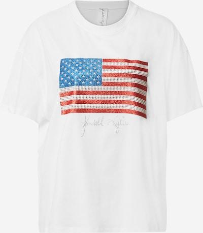 KENDALL + KYLIE Shirt in blau / rot / offwhite, Produktansicht