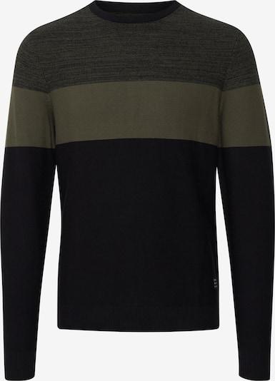 BLEND Pullover in dunkelgrau / dunkelgrün, Produktansicht