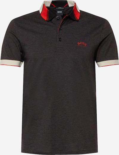 BOSS ATHLEISURE Bluser & t-shirts 'Paule' i mørkegrå / rød / hvid, Produktvisning