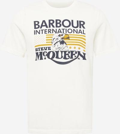 Barbour International T-Shirt in dunkelblau / senf / weiß, Produktansicht