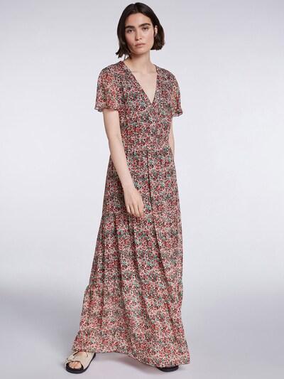 SET Kleid in dunkelgrün / dunkelrot / weiß, Modelansicht