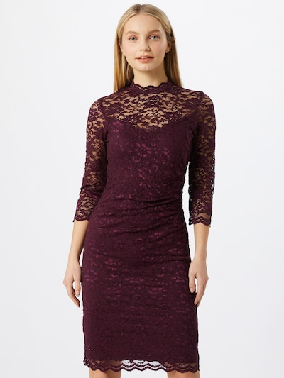 SWING Kleid in aubergine, Modelansicht