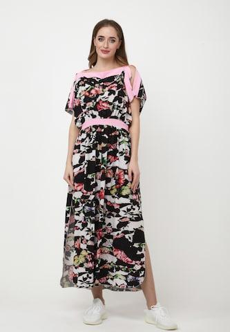 Madam-T Dress 'TSURUMI' in Black